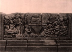 KITLV 155168 - Kassian Céphas - Reliefs on the terrace of the Shiva temple of Prambanan near Yogyakarta - 1889-1890.tif