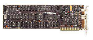 IBM Monochrome Display Adapter - MDA Video card with Hitachi HD6845 (= Motorola MC6845).