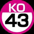 KO-43 station number.png