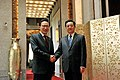 KOCIS President Lee met with his Chinese counterpart Hu Jintao on Apr. 30 in Shanghai (4573581703).jpg