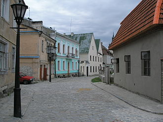 Kamianets-Podilskyi - An old street in Kamianets-Podilskyi's old town quarter. Recently restorational works are being conducted in the city.
