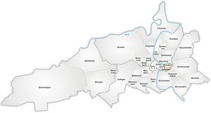 Karte von Schwarzes Quartier - Mattequartier