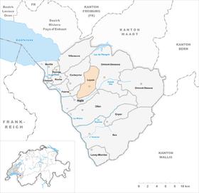 Karte von Leysin