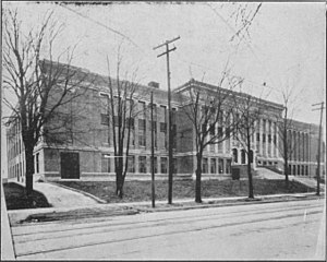 Kitchener-Waterloo Collegiate and Vocational School - Kitchener-Waterloo Collegiate and Vocational School shortly after the opening of the 1924 extension.