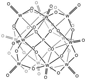 Keggin structure - Keggin structure of phosphotungstate anion