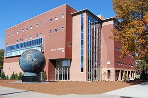 Kennesaw State University - The Social Sciences Building and the Spaceship Earth sculpture