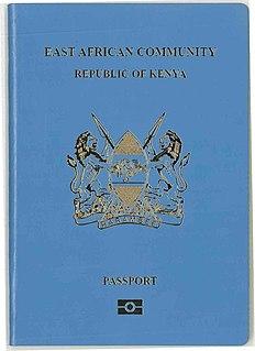 Kenyan passport passport of the Republic of Kenya issued to Kenyan citizens