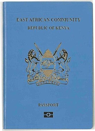 Kenyan passport - The front cover  a contemporary Kenyan E-passport.