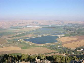 Hula Valley - View of the Hula national reserve from Keren Naftali