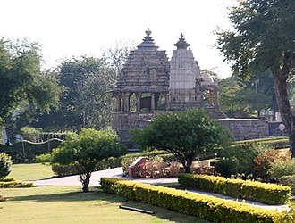 Landscape planning - The western group of Khajuraho temples (2005) set in an archaeologically inappropriate parkland landscape