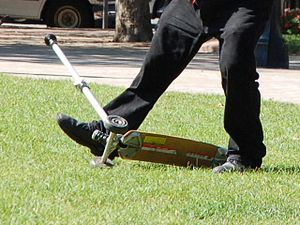 Kick scooter - A three-wheeled K2 Kickboard
