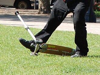Kick scooter - A three-wheeled K2 Kickboard