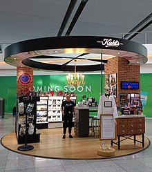 A Kiehl's kiosk at Terminal 2 in the Dublin Airport.