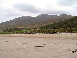 Mountains of the Dingle Peninsula - Beenoskee from the Brandon Bay.