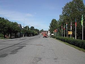 Kilingi-Nõmme - The main street in Kilingi-Nõmme
