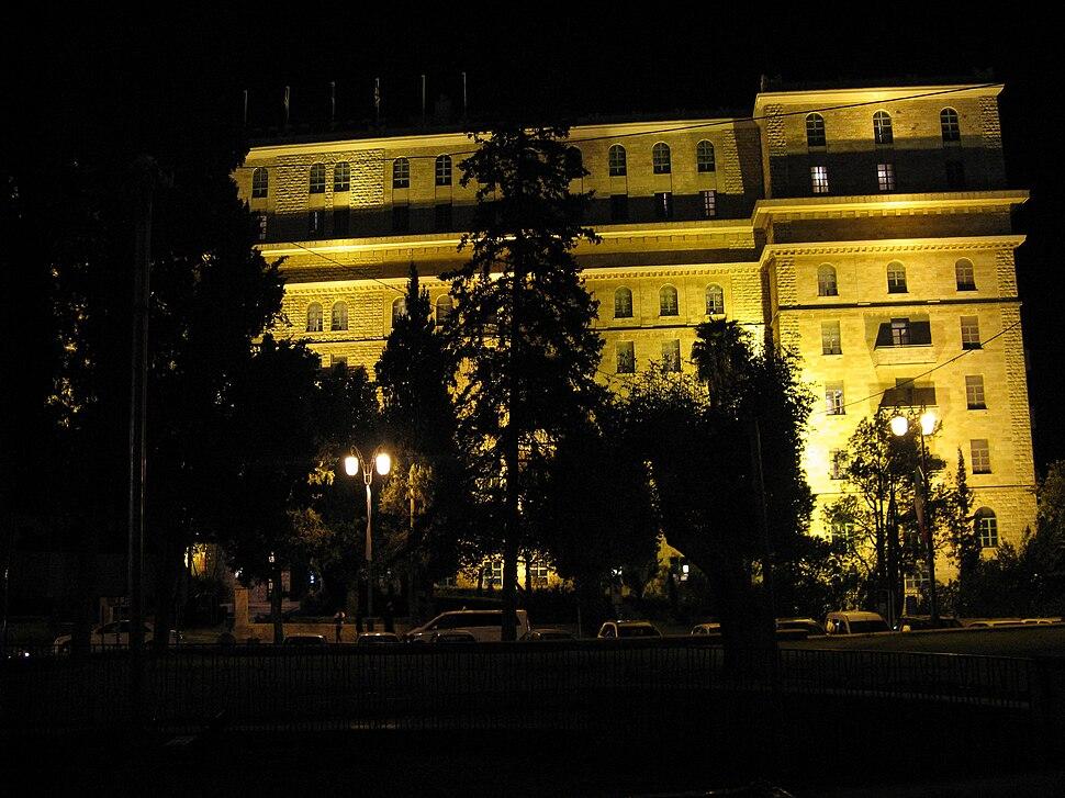King David Hotel at night