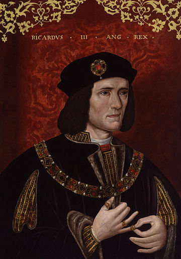 Yorkist king Richard III grew up at Middleham. King Richard III from NPG.jpg