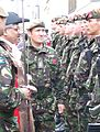 Kirklees Mayor, Cllr Karam Hussain & Lt Col Andy Pullan Inspect Yorkshire Regiment Soldiers, 25 Oct, 2008.JPG