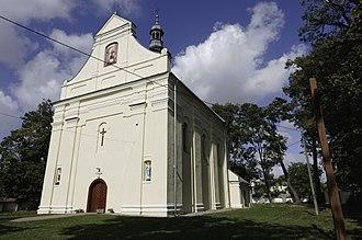 Żółkiewka, Lublin Voivodeship - Image: Kościół p.w. św. Wawrzyńca (2 poł. XVIII) w zespole kościoła parafialnego