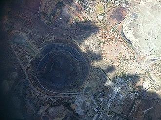 Koffiefontein mine - Koffiefontein Diamond Mine from the air, 2012