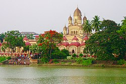 Dakshineswar Kali Temple, built between 1847 and 1855