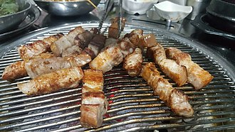 Korean barbecue - Korean barbeque-pork belly