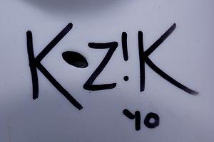 Frank Kozik - Frank Kozik autograph on a Labbit (KidRobot NYC signing in 2010)