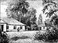 Kraszewski manor in Doǔhaje, drevaryt.Jpg