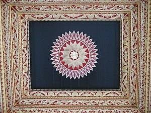 Kraton Ngayogyakarta Hadiningrat - The floral pattern usually found in the temple relief becomes the inspiration for Javanese architecture. Above is the example on the Kraton's ceiling.