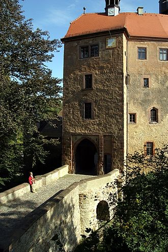 Kriebstein Castle - Entrance over the moat (north side)