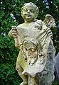 Krzeszów, cmentarz klasztorny,figurka anioła z chustą św. Weronik -Aw58- 5.09.2010 r.i.JPG