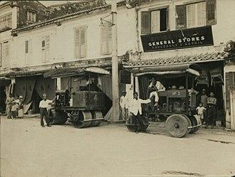 Chinatown, Kuching - Kuching Main Bazaar shophouses between 1900 and 1930.