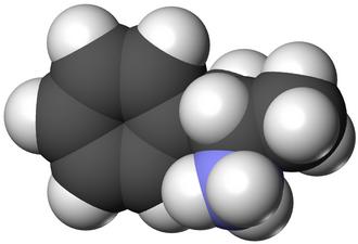 Substituted amphetamine - Image: L amphetamine 3D vd W