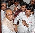 LL Sharma with President of India Mr. Pranab Mukherjee.jpg