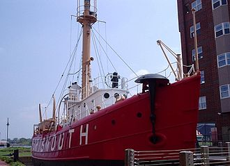 Lightvessel - Lightship Portsmouth (LV-101) shows its mushroom anchor. It can be seen at downtown Portsmouth, Virginia, and is a part of the Naval Shipyard Museum.