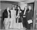 L to R, Bess Truman, Margaret Truman, Mrs. Max Truitt (daughter of Alben Barkley), Vice President Alben Barkley, and... - NARA - 200004.tif