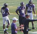 LaQuan Williams, Anquan Boldin, Torrey Smith.JPG