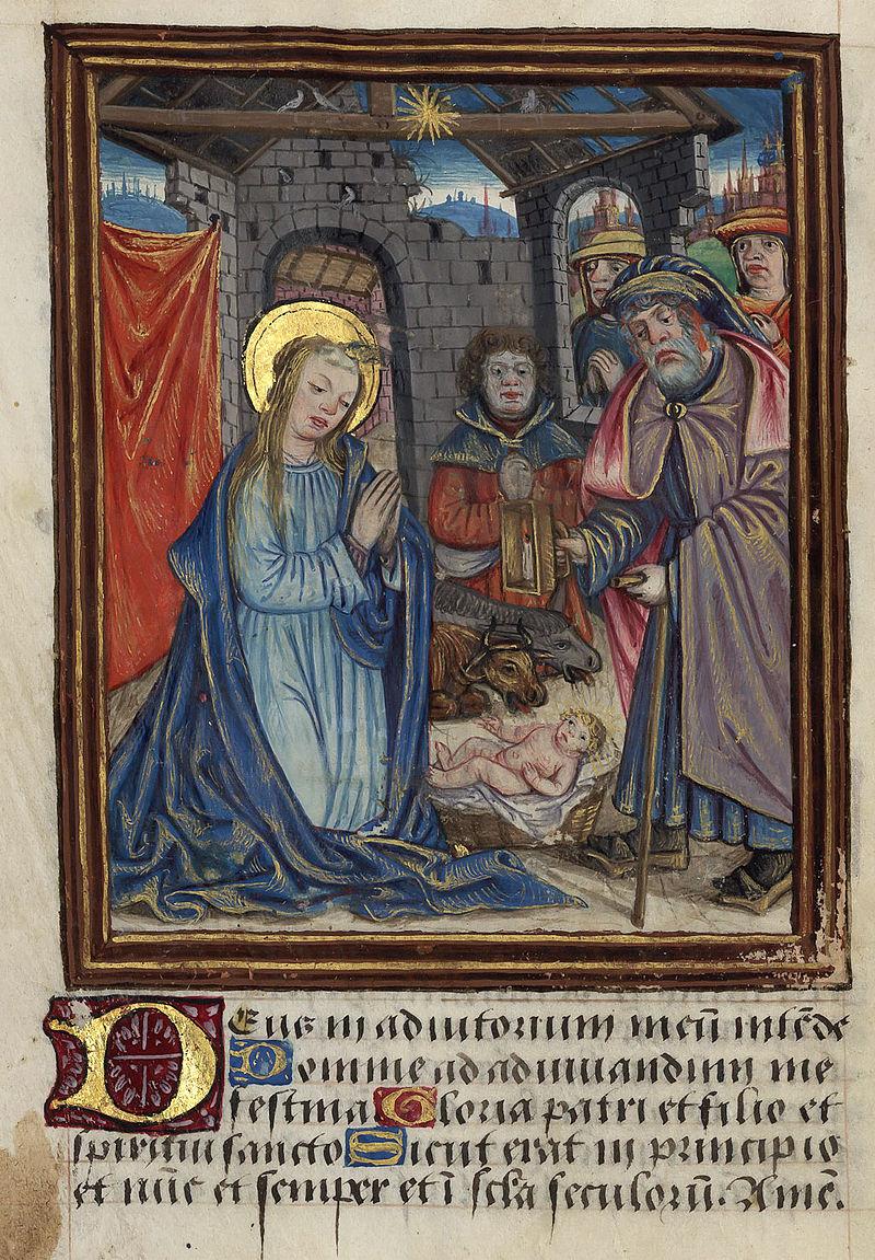 Enluminure - Renaissance - Nativité et adoration des bergers - SchoolMouv - Histoire - CM1