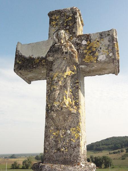 Laneuveville-derrière-Foug (Meurthe-et-M.) croix de chemin B verso detail