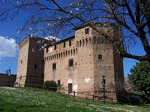 Cesena - The towers of the Rocca Malatestiana in Cesena.