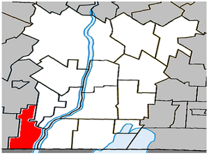 Lacolle, Quebec - Image: Lacolle Quebec location diagram