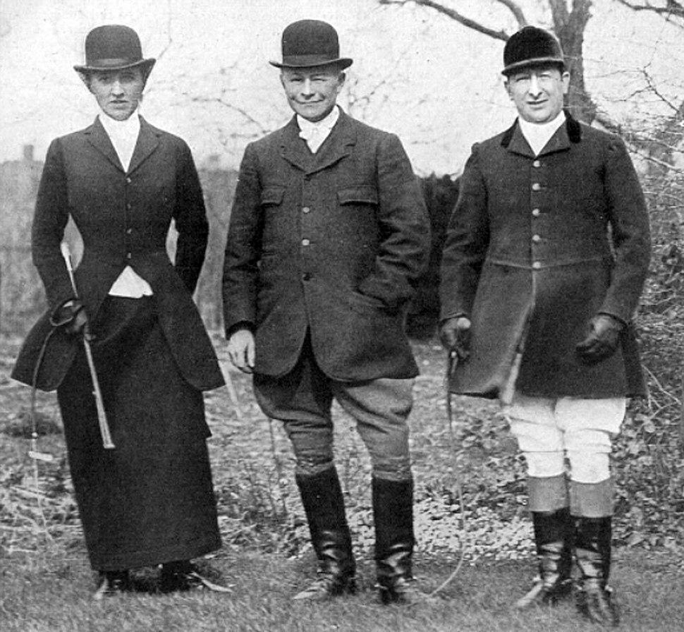 Lady Greenall and Sir Gilbert Greenall right 1912