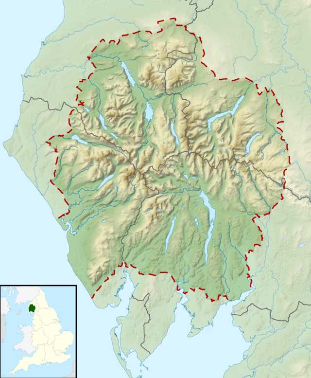 relief map of lake district List Of Lakes Of The Lake District Wikipedia relief map of lake district