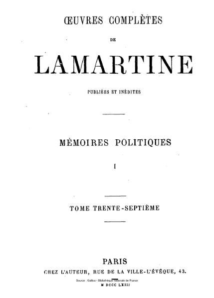File:Lamartine - Œuvres complètes de Lamartine, tome 37.djvu