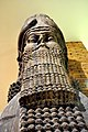 Lamassu, head of a human-head bull from Khorsabad, Iraq, reign of Sargon II, 710-705 BC. The British Museum.jpg