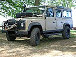Land Rover Defender 110 (maybe former UN vehicle).JPG