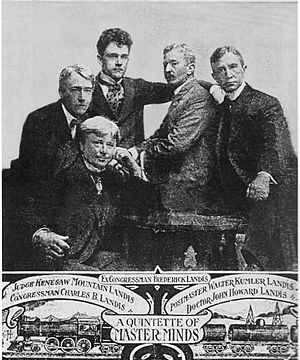Kenesaw Mountain Landis - Kenesaw Mountain Landis (at left) and his four brothers, two of whom served in Congress, as illustrated in 1908.
