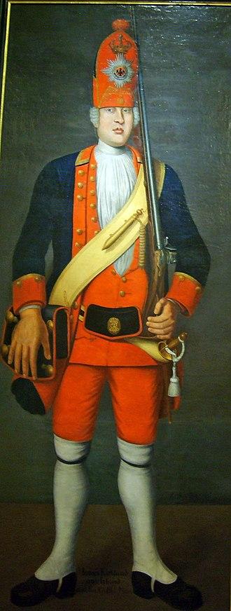 "Potsdam Giants - Prussian Langer Kerl (""a tall guy"") by Johann Christof Merk, 1718"