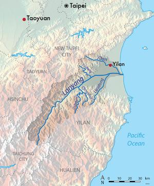 Lanyang River - Map of the Lanyang River basin