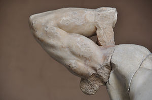 Ludwig Pollak - The original right arm of the Laocoön and His Sons, discovered in 1906 by Pollak.